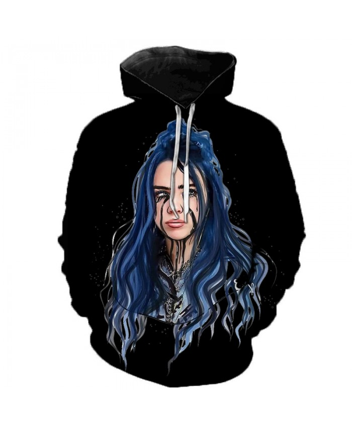 Billie Eilish 3D Hoodies Men Women Hoodies Billie Eilish Casual Hoodies Sweatshirts Fashion Clothes 3D Print Color Fashion Tops A