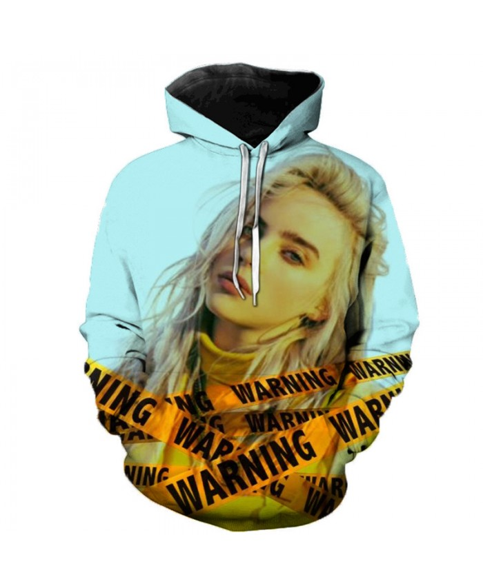 Billie Eilish 3D Hoodies Men Women Hoodies Billie Eilish Casual Hoodies Sweatshirts Fashion Clothes 3D Print Color Fashion Tops B