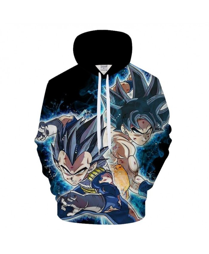 Black Hoodies 3D Goku Hoody Men Sweatshirt Dragon Ball Tracksuit Anime Pullover Streatwear Hoodie Harajuku Drop Ship