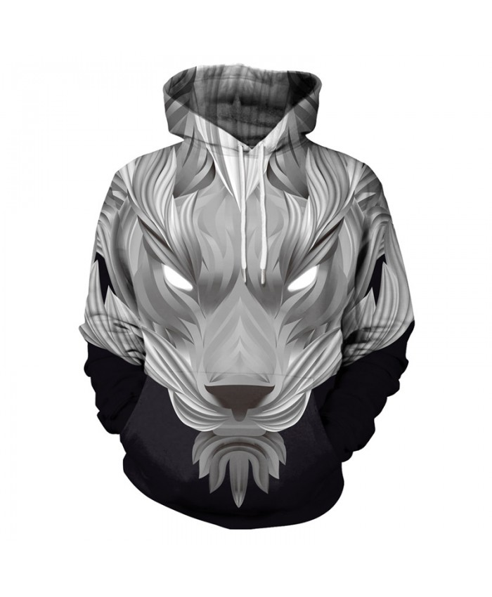 Black Lion Hoodies Men Women 3d Sweatshirts With Hat Hoodies Hand Painted Print Colorful Blocks Lion Hooded Hoodies
