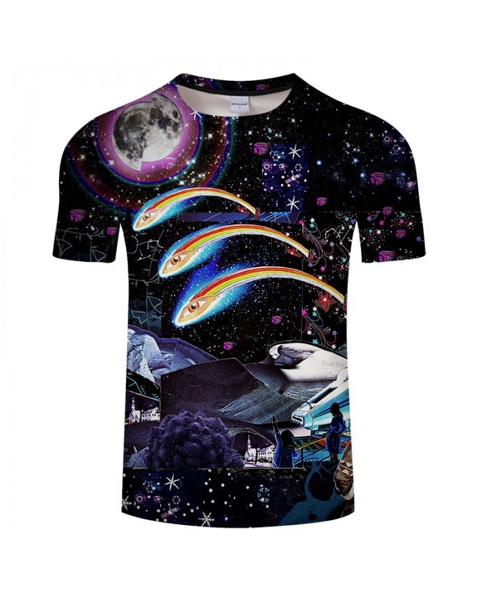 Black Pattern With Star 3D Print t shirts Men Women tshirt Summer Casual Short Sleeve O-neck Tops&Tees Hot Drop Ship