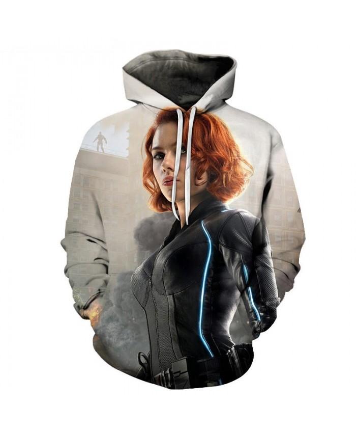Black Widow 3D Print Hoodie Mens Pullover Sweatshirt Men's Hoodie Casual Sweatshirt Fashion Men Hoodies Avengers End Game Hoodie