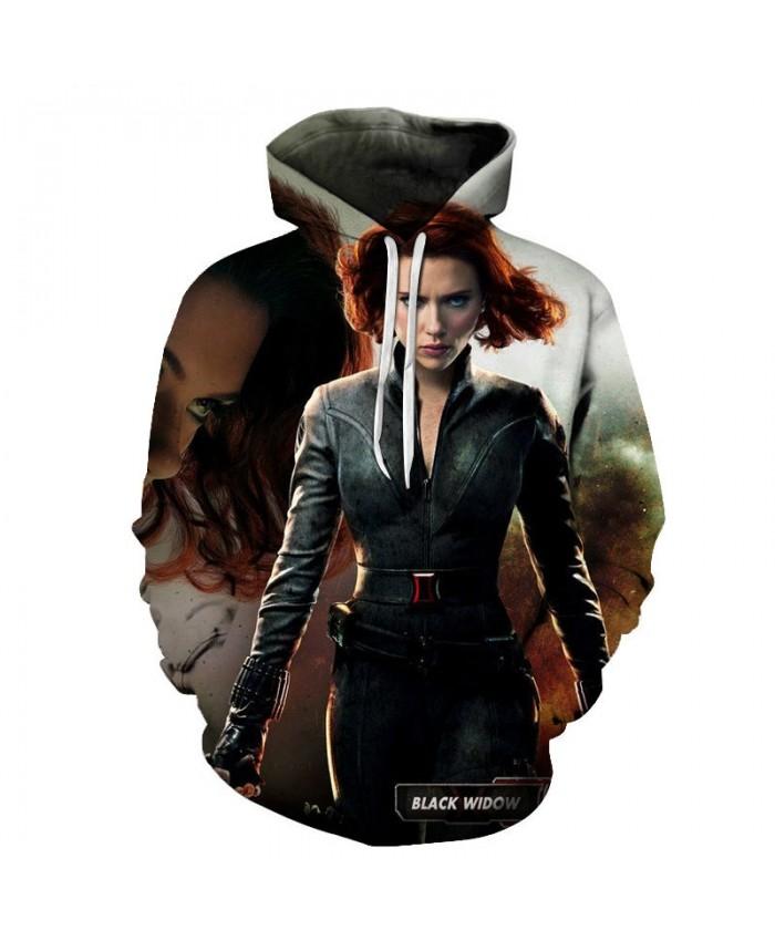 Black Widow 3D Print Hoodie Mens Pullover Sweatshirt Men's Hoodie Casual Sweatshirt Fashion Men Hoodies Avengers Final Hoodie