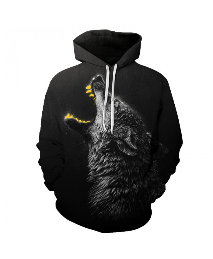 Black Wolf 3D Sweatshirts Men/Women Hoodies With Hat Print Fashion Autumn Winter Loose Thin Hooded Hoody Tops