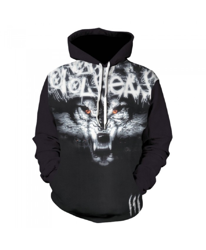 Black Wolf Hoodie Hoodies Men Women 2019 New Fashion Spring Autumn Pullover Sweatshirts Sweat Homme 3D Tracksuit