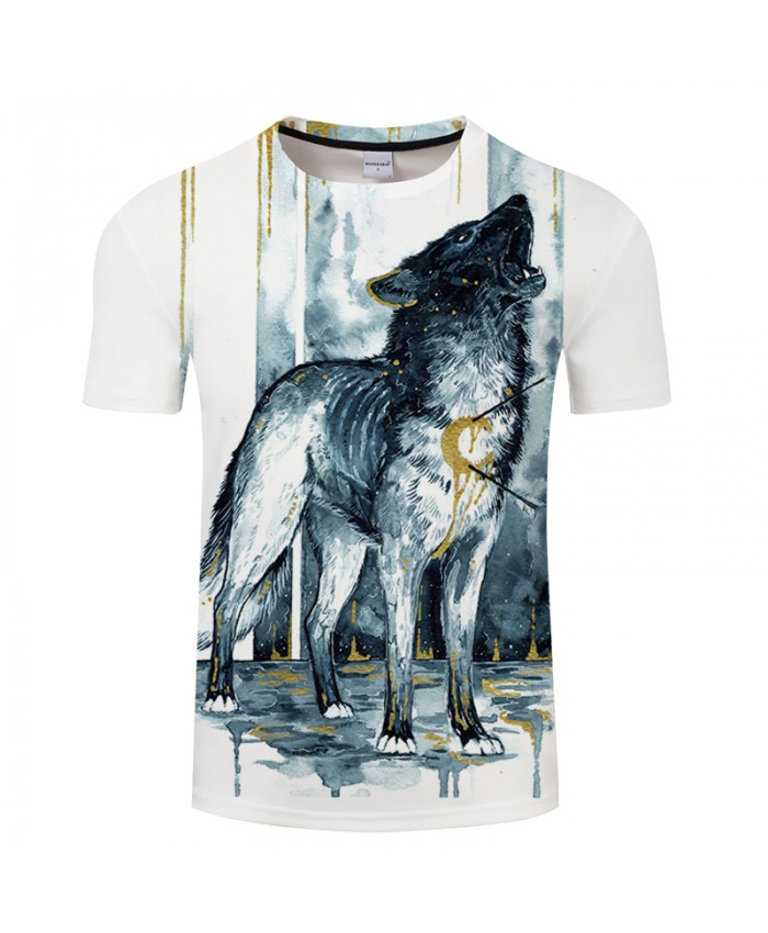Bleedingsoul By Girl Art Wolf 3D Print T shirt Men Women ShortSleeve Loose Top&Tee Tshirt Camiseta Plus Drop Ship
