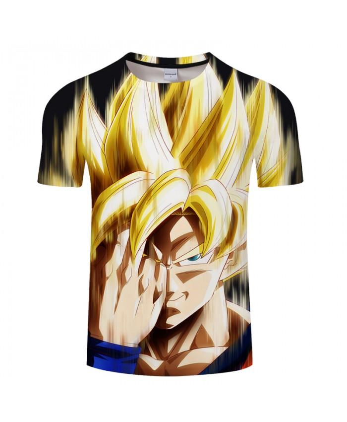Blind eyes Print 3D T shirt Men Summer Anime Short Sleeve Tops&Tee Boy Tshirt Casual Harajuku Dragon Ball Drop Ship