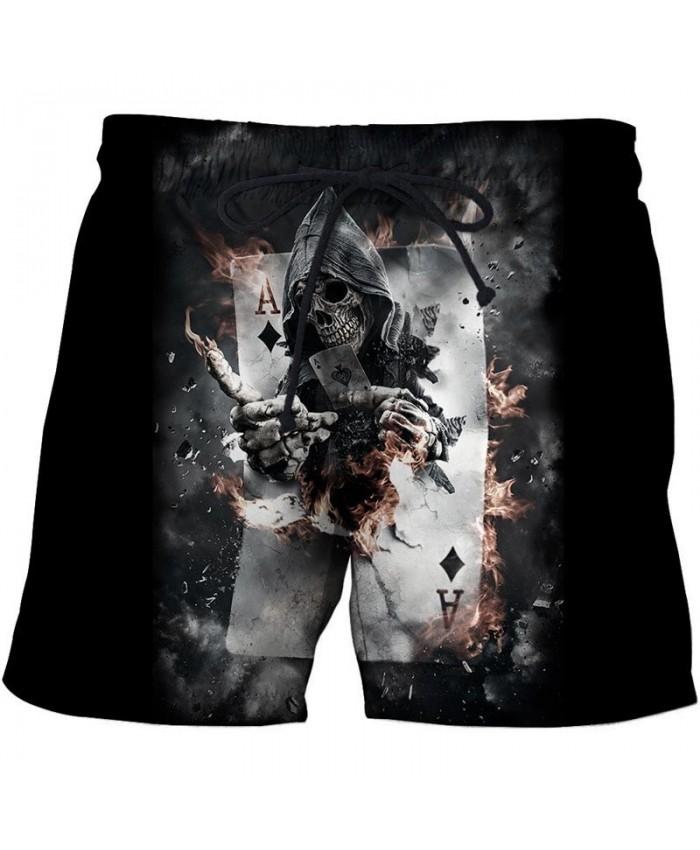 Block A 3D Print Men Shorts Casual Cool Men Elastic Waist Stone Printed Beach Shorts 2019 New Male Fitness Shorts