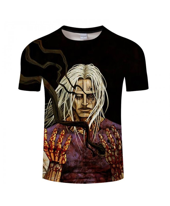 Blood-stained Hand Anime Game 3D Print tshirt Men tshirt Summer Casual Short Sleeve Male Quick Dry O-neck Drop Ship