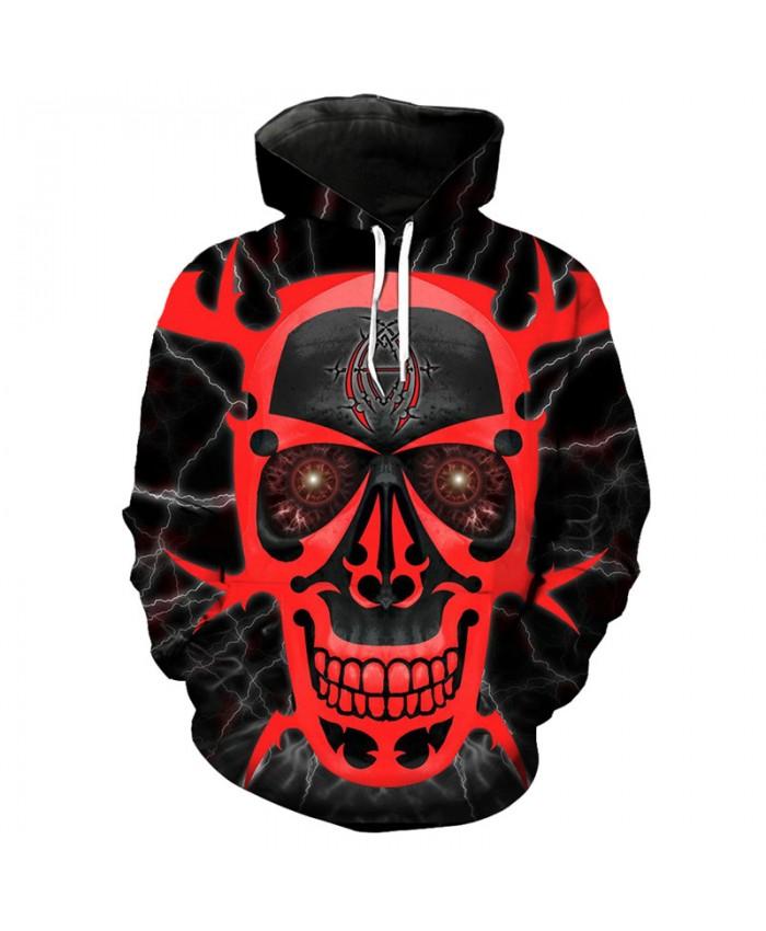 Bloody skull printed hip hop hooded sweatshirt fashion streetwear Tracksuit Pullover Hooded Sweatshirt