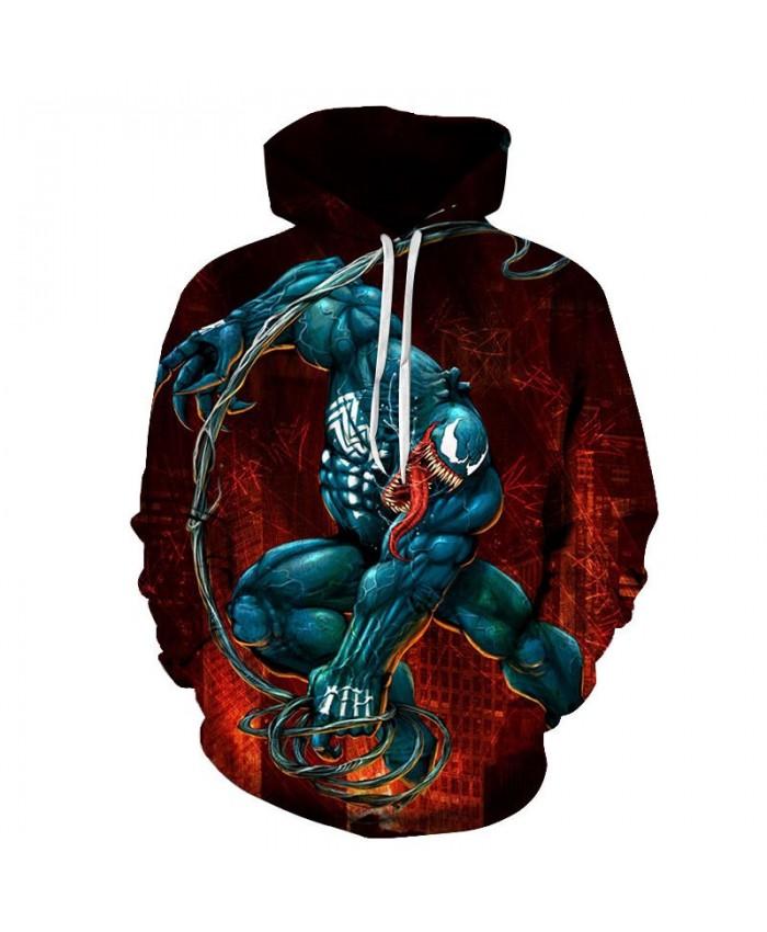 Blue Anime Character 3D Print Men Pullover Sweatshirt Clothing for Men Custom Pullover Hoodie Streetwear Sweatshirt