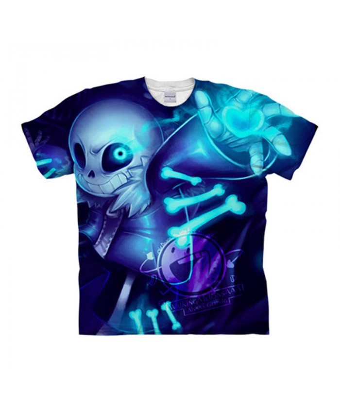 Blue Bone Undertale 3D Printed Men Anime tshirt Crossfit Shirt Casual Short Sleeve Male T Shirt Men Brand Tops&Tee