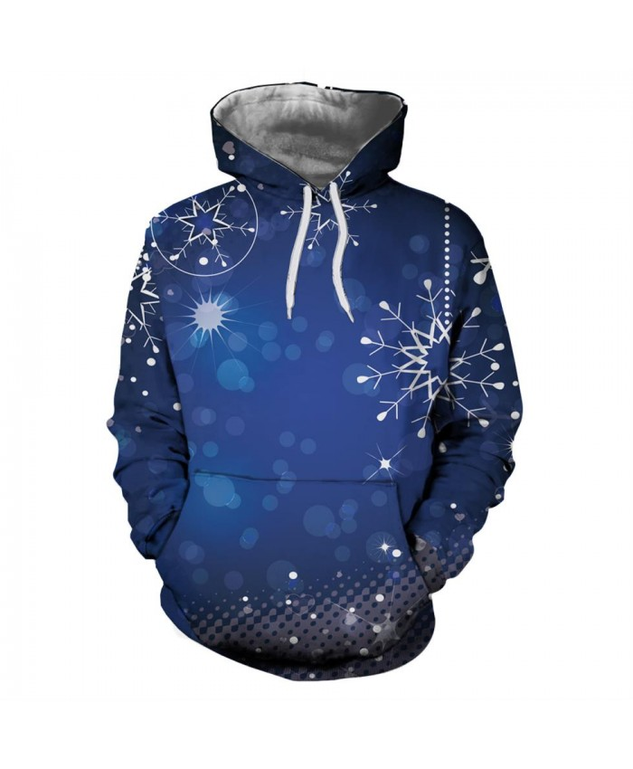 Blue Dreamy Christmas Hoodies 3D Sweatshirts Men Women Hoodie Print Couple Tracksuit Hooded Hoody Clothing