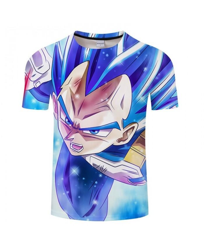 Blue Eyebrows Cartoon Goku Dragon Ball 3D Print Men tshirt Anime Casual Loose Summer Short Sleeve Male Drop Ship