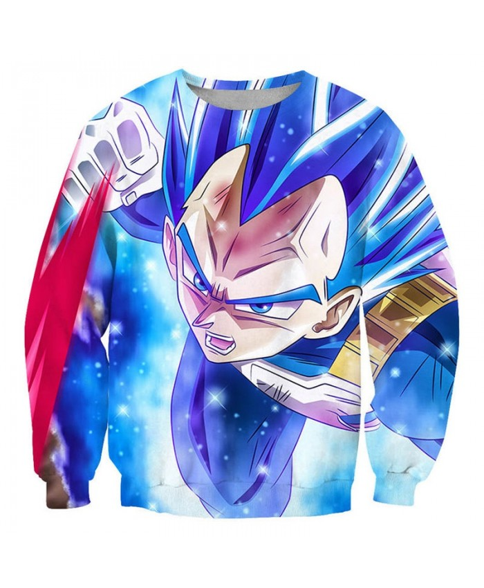 Blue Eyebrows Dragon Ball 3D Printed Mens No Cap Pullover Sweatshirt Pullover Men Streetwear Sweatshirt Clothes