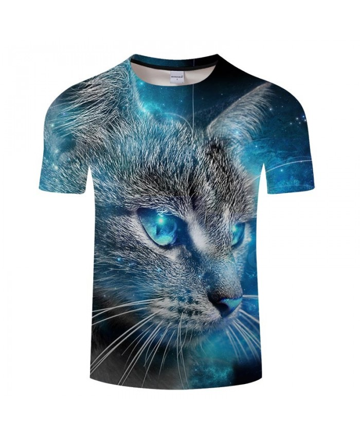 Blue Eyes Cat 3D Printed Men tshirt Crossfit Shirt Casual Summer Short Sleeve Male tshirt Brand Men O-neck Tops&Tee