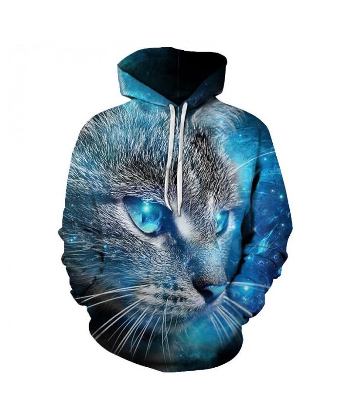 Blue Eyes Cat 3D Printed Mens Pullover Sweatshirt Pullover Casual Hoodie Men Fashion Hoodie Streetwear Sweatshirt