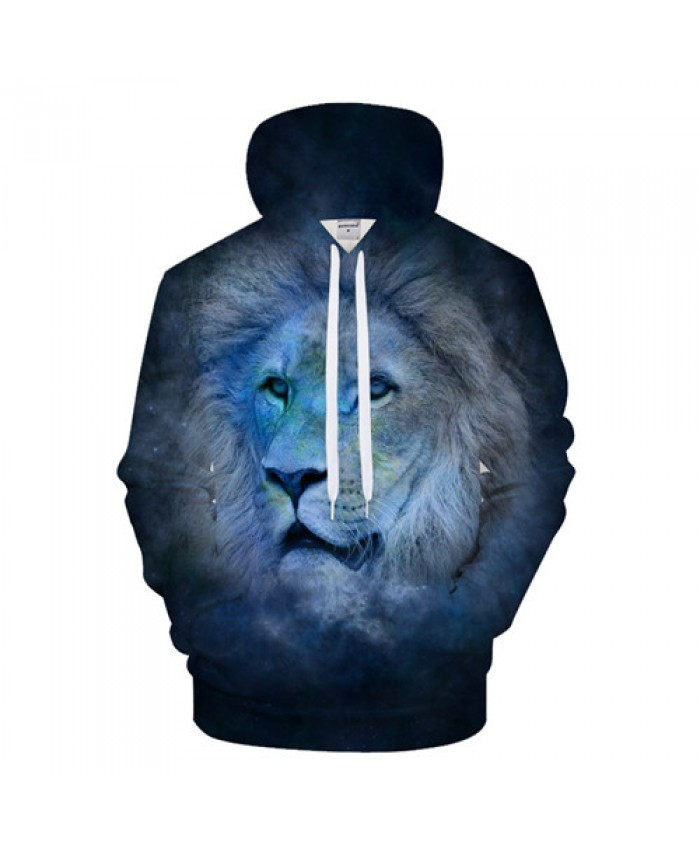 Blue Hoodies Lion Sweatshirt 3D Animal Hoody Men Tracksuit Printed Hooded Male Pullover Autumn Streatwear Drop Ship