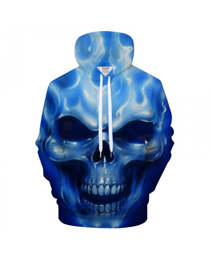Blue Skull Men 3D Hoodie Groot Hoody Print Tracksuit Casual Sweatshirt Long Sleeve Coat Streatwear Pullover DropShip