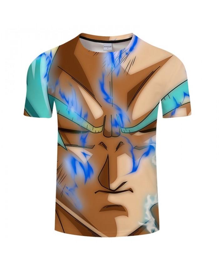 Blue Smoke Cartoon Goku Dragon Ball 3D Print tshirt Men tshirt Summer Casual Short Sleeve Male O-neck Drop Ship