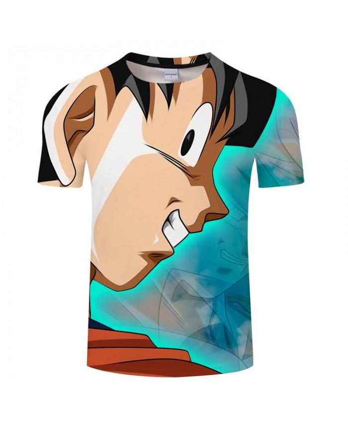 Blunt Cartoon Goku Dragon Ball 3D Print Men tshirt Anime Casual Loose Summer Short Sleeve Male 2019 New Drop Ship