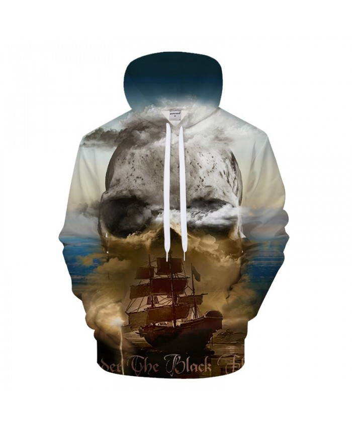 Boat&Skull 3D Print Hoodies Men Women Casual Sweatshirt BrandTracksuit Pullover Autumn Coat Streatwear Hoody DropShip
