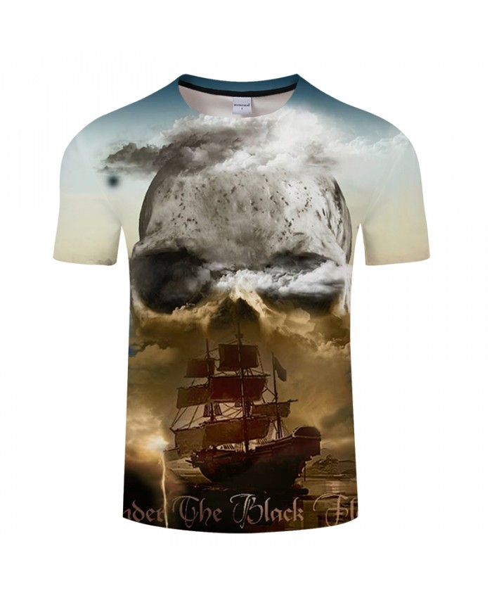 Boat&Skull 3D Print t shirt Men Women tshirt Summer Casual Short Sleeve Groot Tops&Tee Camiseta Streatwear Drop Ship