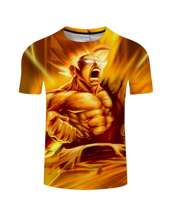 Boys Superman 3D Print T shirt Men Dragon Ball Summer Anime ShortSleeve Streetwear Saiyan Top&Tee Tshirts Drop Ship