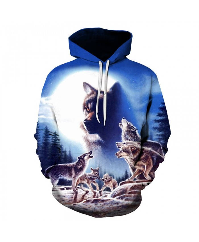 Brand Men Clothes 2021 Fashionable 3D Wolf Hoodies Hip Hop Men's Hoody Streetwear Top Funny Tracksuit Harajuku Women/Men Hoodies