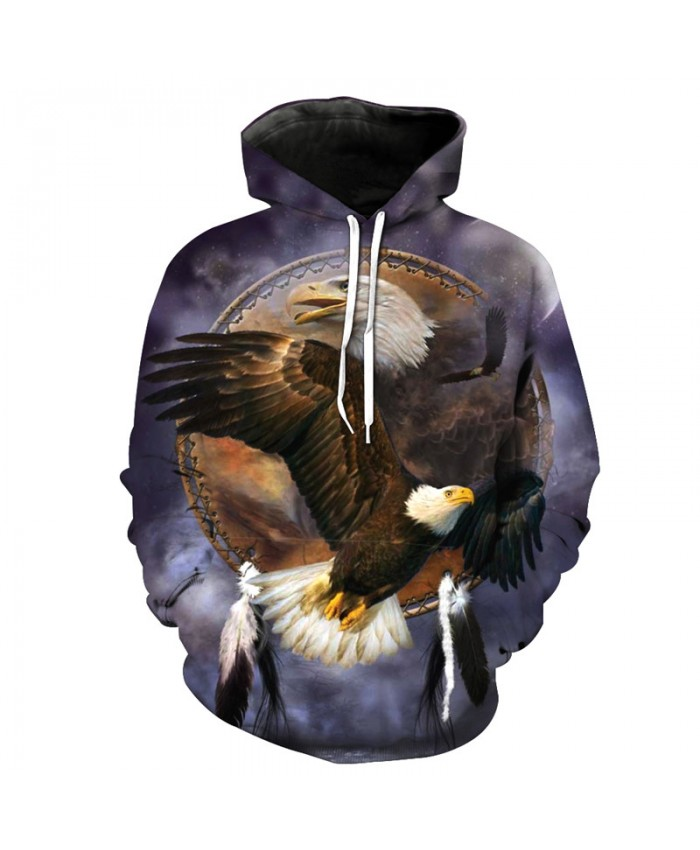 Bronze Mirror Flying Eagle Cool Hoodies fall pullover Casual Hoodies Casual Hoodie Autumn Tracksuit Pullover Hooded Sweatshirt