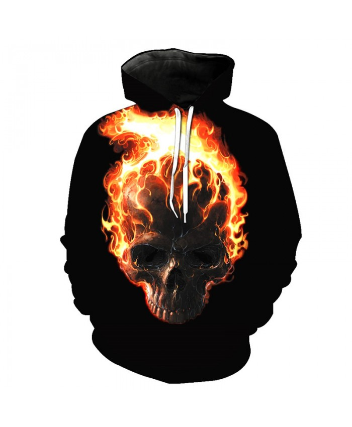 Burning Flame Men's Casual Pullover Tracksuit Pullover Hooded Sweatshirt
