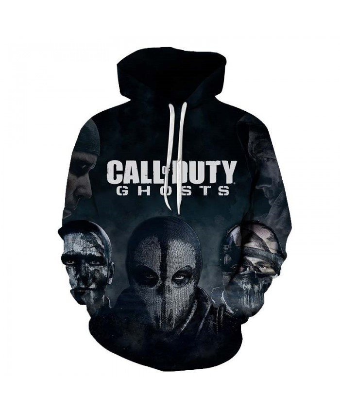 Call Duty Ghosts Mens Pullover Sweatshirt Streetwear Sportsuit Casual Long Sleeve 2021 Tops sell Tracksuits Men