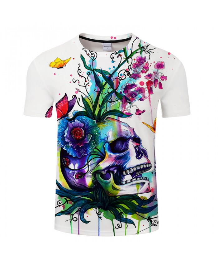 Candid by Pixie cold Art Men 3D Skull T-shirts Summer Tops Male T shirts Brand Camiseta Short Sleeve Printed Tees Funny Tshirts