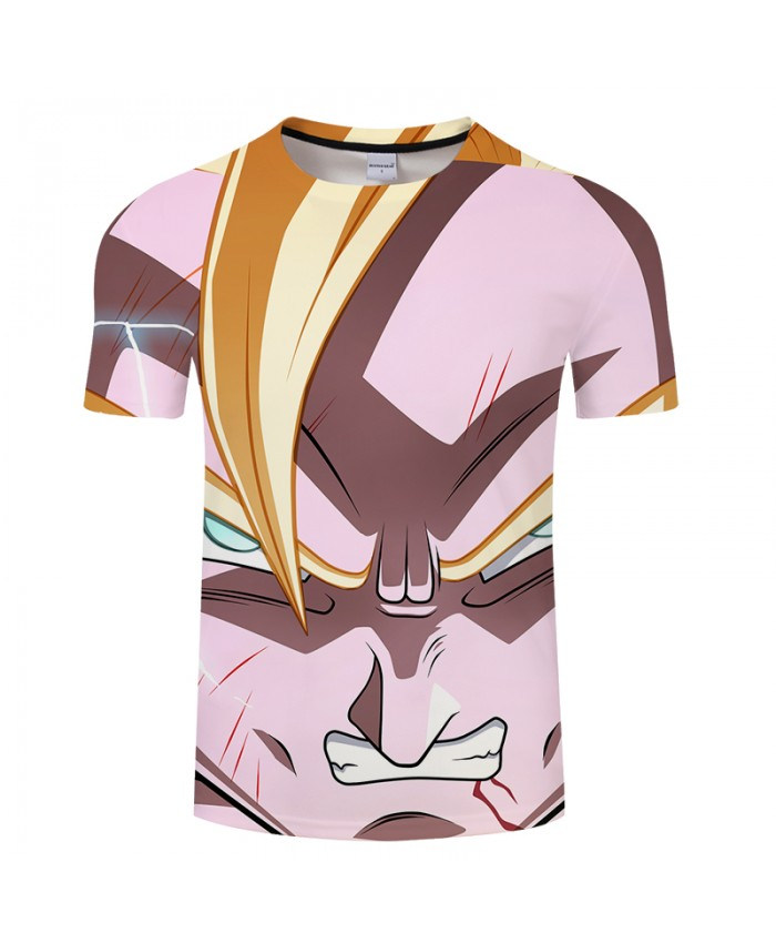 Cartoon 3D Print T shirt Men Women Dragon Ball Summer Anime t shirt Streetwear Saiyan Tops&Tees Tshirts Drop Ship