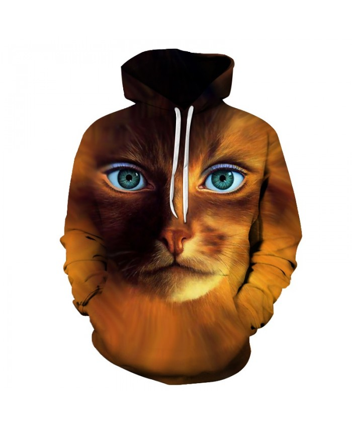 Cartoon Cat Sweatshirts Men Hoodies Hooded Coat Streetwear Tracksuit 3D Print Pullover Animal Clothing 6xl Drop Ship