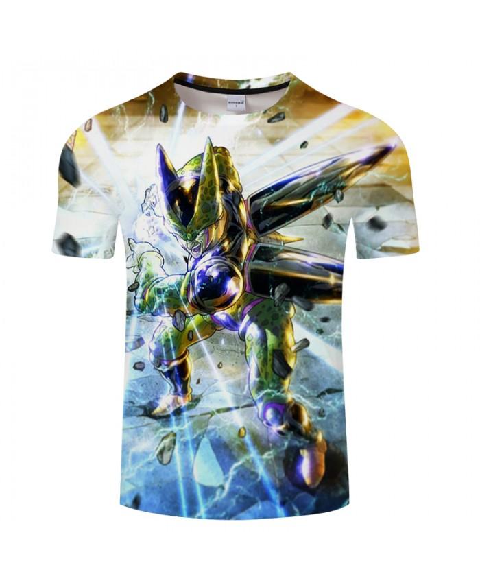 Cartoon Character 3D Print T shirt Men Dragon Ball Summer ShortSleeve Boy Tops&Tee Tshirt Streetwear Loose Drop Ship