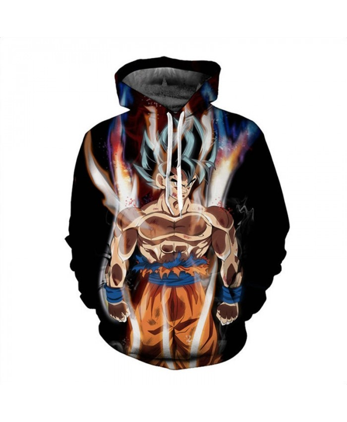 Cartoon Dragon Ball Men Hoodies 3D Print Pullovers Sportswear Sweatshirts Super Saiyan Son Goku Black Zamasu Casual Tops Outfit