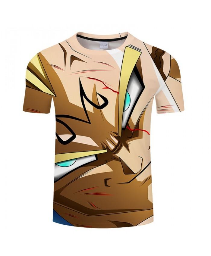 Cartoon Goku Bloodshot Dragon Ball 3D Print Men tshirt Anime Casual Short Sleeve Male Quick Dry O-neck Drop Ship