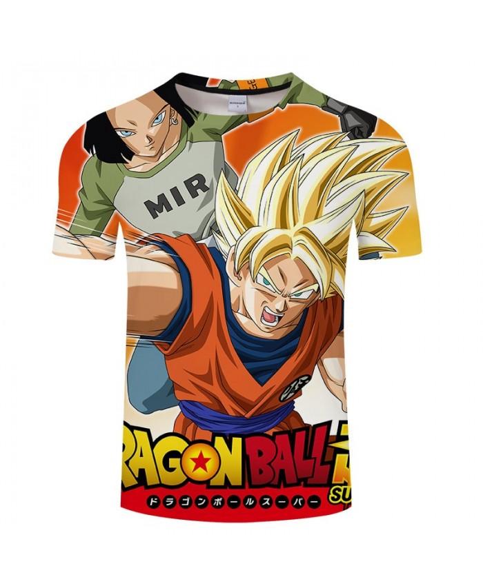 Cartoon Goku Cyclone Attack Dragon Ball 3D Print Men tshirt Anime Casual 2019 New Short Sleeve Male O-neck Drop Ship
