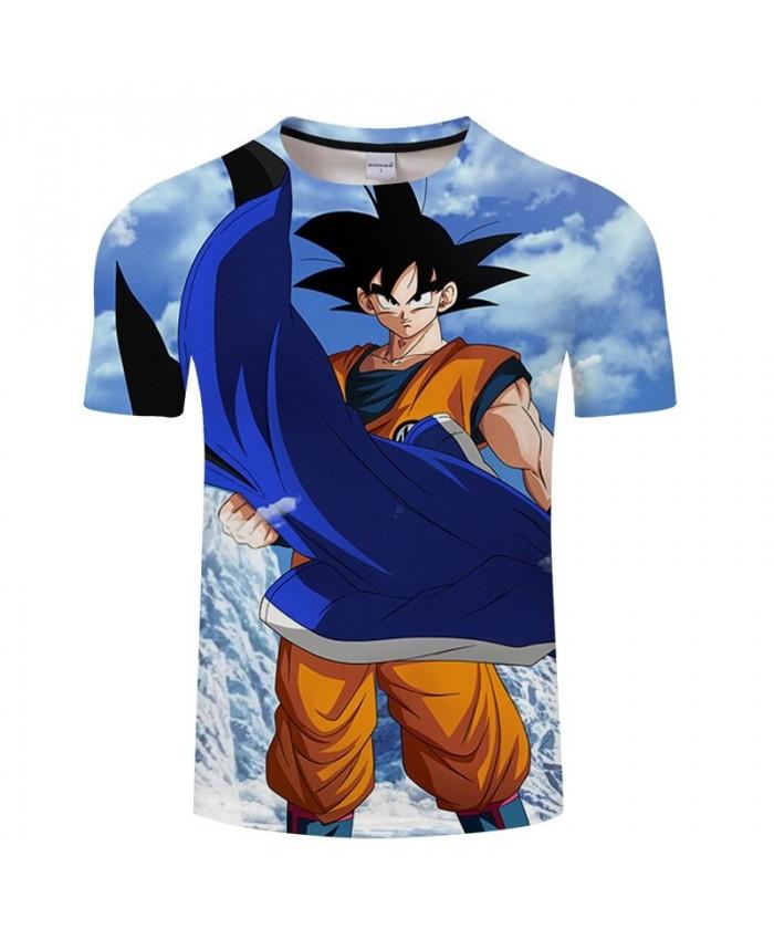 Cartoon Goku Hand Cloak Dragon Ball 3D Print Men tshirt Anime Casual Summer Short Sleeve Male Tops&Tee Drop Ship