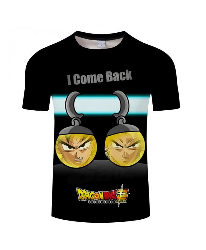 Cartoon Goku Man Inside The Ball Contradict 3D Print Men tshirt Anime Casual Summer Short Sleeve Male Drop Ship