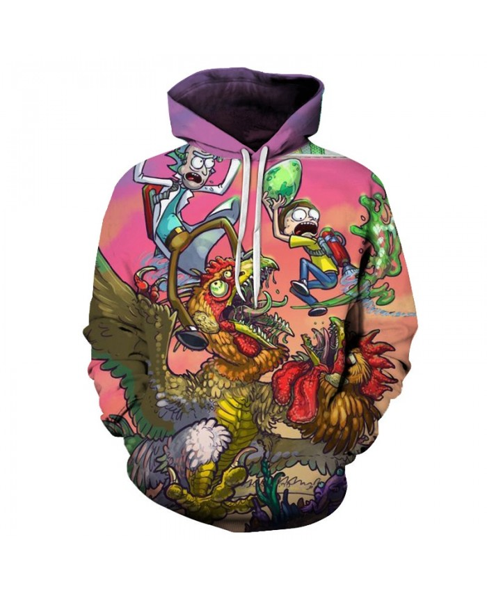 Cartoon Hoodies Rick and Morty Hoody 3D Sweatshirts Mens Tracksuit Funny Pullover Male Hooded 6XL Streatwear Dropship