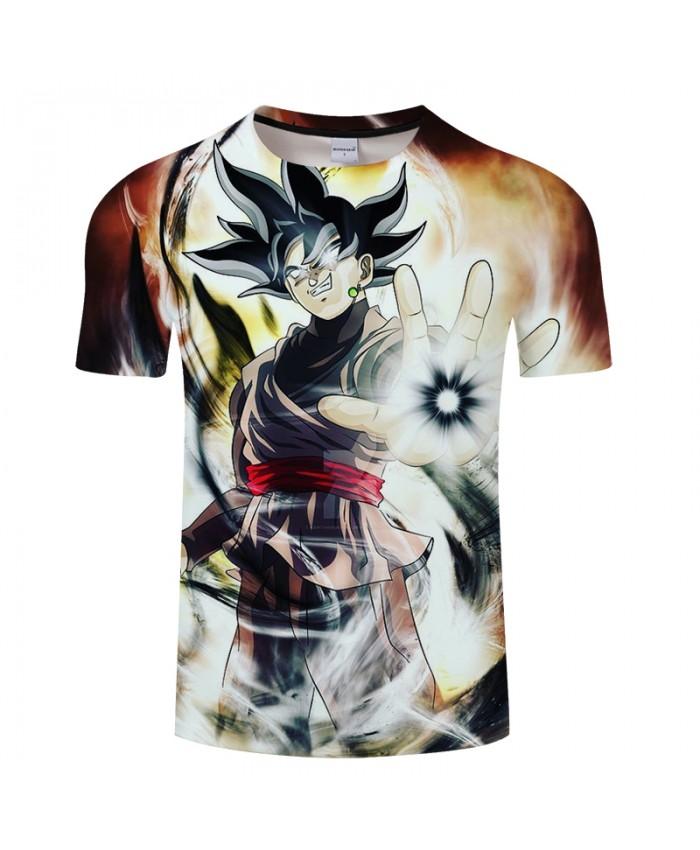 Cartoon Pattern Goku 3D Print T shirt Men Summer Short Sleeve Tops&Tee Women Tshirt Dragon Ball Streetwear Drop Ship