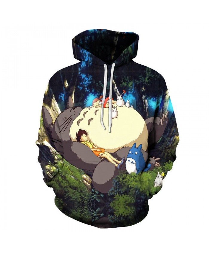 Cartoon Print Hoodies Men Tracksuits Casual Male Women Tops Drop Ship Animal 3D Sweatshirts Pullover