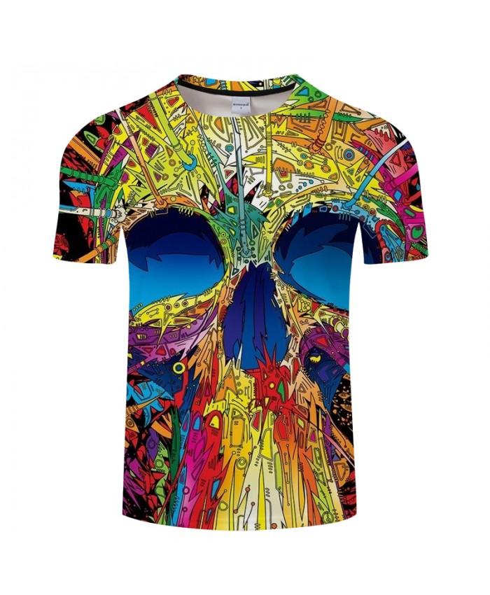 Cartoon Skull 3D Print t shirt Men Women tshirts Summer Funny Short Sleeve O-neck Tops&Tees Hot 2021 New Drop Ship