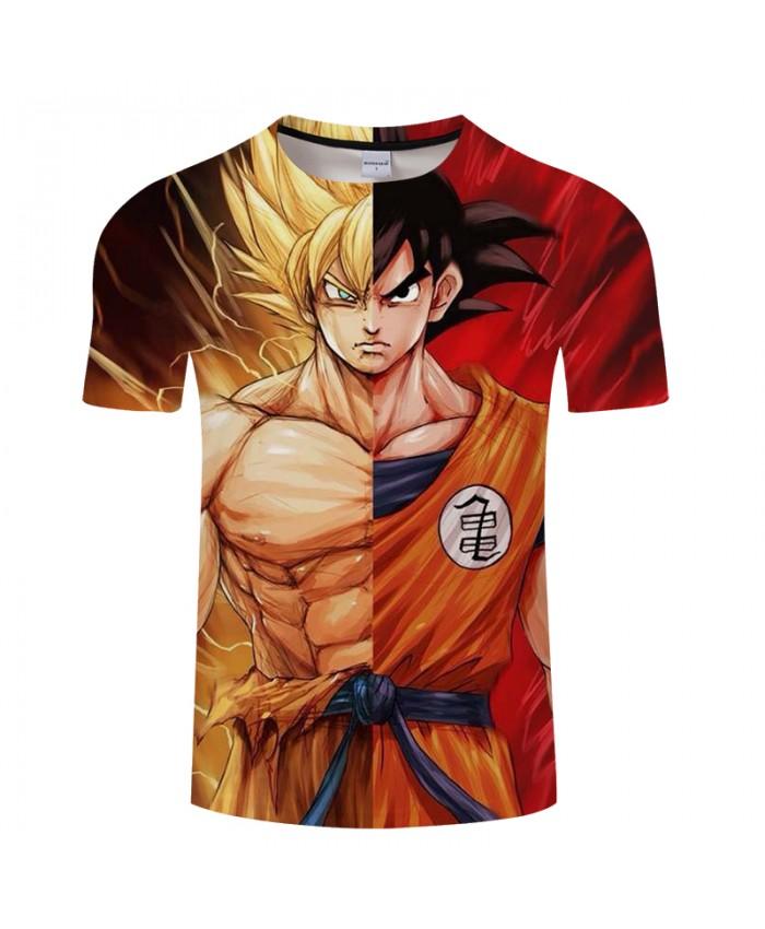 Cartoon characters Dragon Ball 3D Print T shirt Men Summer Anime Short Sleeve O-neck Boy Tops&Tees Tshirts Drop Ship