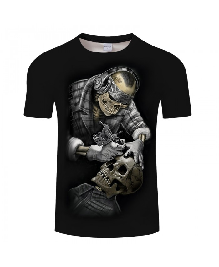 Carving Skull 3D Print t shirt Men Women tshirt Summer Funny Short Sleeve O-neck Tops&Tee Streetwear Black Drop Ship