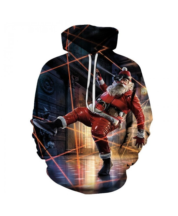 Casual Fashion 3D Printed Hoodies Tracksuit 2019 New Sport Hoodies For Men Christmas Grandfather