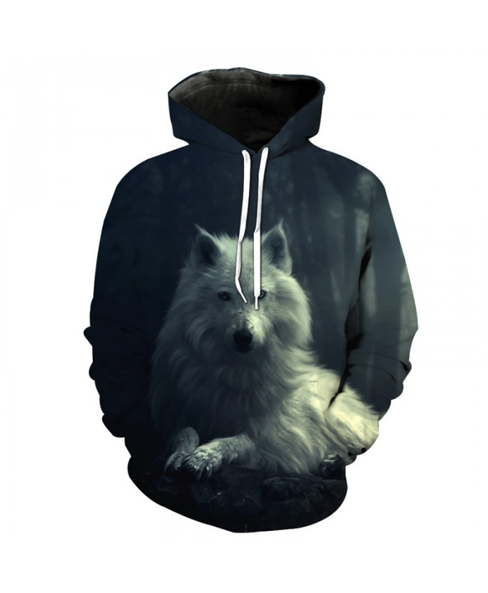 Casual hoodie wolf style fashion hooded sweatshirt Men Women Casual Pullover Sportswear