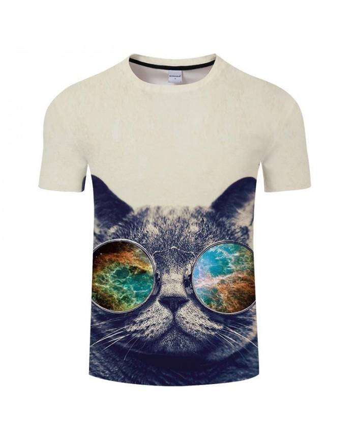 Cat Big River 3D Printed Men tshirt Crossfit Shirt Casual Summer Short Sleeve Male tshirt Brand Round Neck Top Men